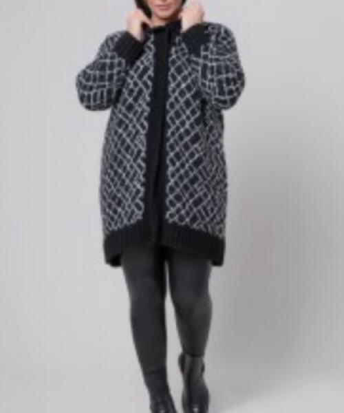 Cappotto/Cardigan in maglia Mat